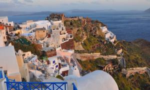 Những mảng màu quyến rũ ở Santorini