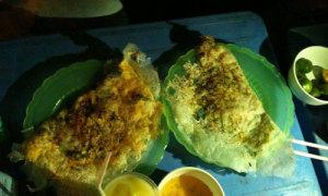 Bánh khoái tép - món ngon của xứ Thanh