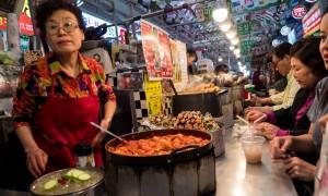 Khu chợ ẩm thực cổ nhất xứ kimchi