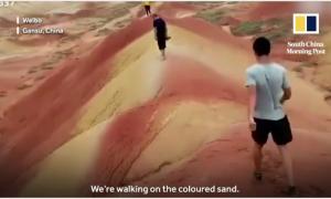 Du khách bị truy tìm vì phá hoại núi cổ ở Trung Quốc