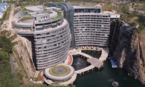 Khách sạn 5 sao dưới lòng đất đầu tiên trên thế giới ở Trung Quốc