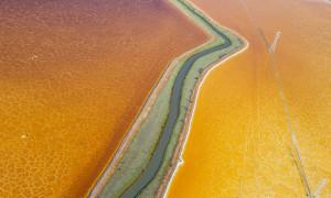 Sắc màu sông hồ, biển cả nhìn từ trực thăng