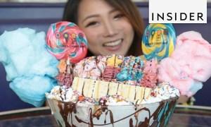 Thử thách ăn kem khổng lồ trong 10 phút