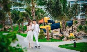 Việt Anh, Quỳnh Nga sánh đôi tại khu nghỉ dưỡng ở Cam Ranh