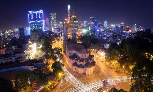 Nhịp sống Sài Gòn về đêm