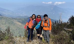 Thám hiểm đỉnh Pu Xai Lai Leng hơn 2.700 m