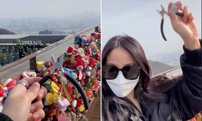 Cô gái vượt gần 10.000 km để cắt khóa tình yêu