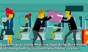 Xếp hành lý xách tay đúng cách trên máy bay