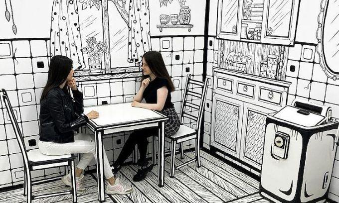 Quán cà phê có không gian như phim hoạt hình