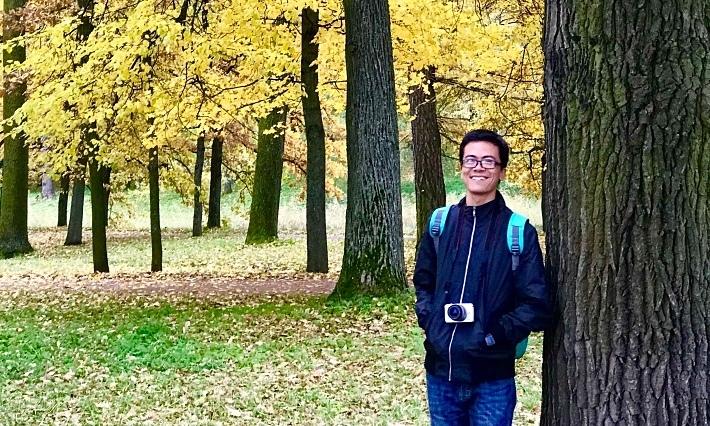 Chàng trai Việt say đắm mùa thu vàng nước Nga