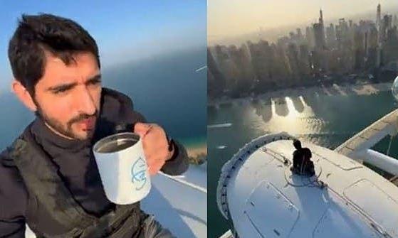 Thái tử Dubai uống cà phê trên đỉnh vòng quay cao nhất thế giới